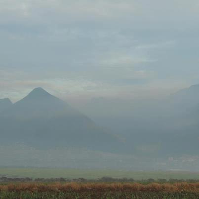 West Maui Obscured by Cane Smoke