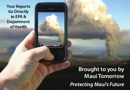 Use the CleanAirMaui Phone App